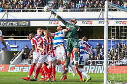 March 9, 2019 - London, England, United Kingdom - Stoke City's keeper Jack Butland punches the ball clear during the second half of the Sky Bet Championship match between Queens Park Rangers and Stoke City at Loftus Road Stadium, London on Saturday 9th March 2019. (Credit Image: © Mi News/NurPhoto via ZUMA Press)