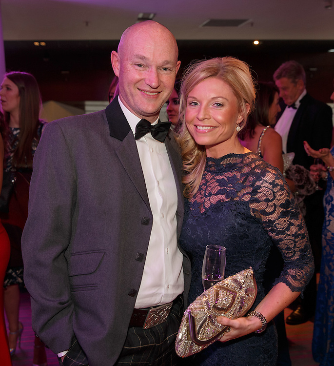 BNO Maggie's Spring Ball at Radisson Hotel Glasgow. L to R :  David Blackmore and Jennifer English. Picture Robert Perry for The Herald and  Evening Times 23rd April 2016<br /> <br /> Must credit photo to Robert Perry<br /> <br /> FEE PAYABLE FOR REPRO USE<br /> FEE PAYABLE FOR ALL INTERNET USE<br /> www.robertperry.co.uk<br /> NB -This image is not to be distributed without the prior consent of the copyright holder.<br /> in using this image you agree to abide by terms and conditions as stated in this caption.<br /> All monies payable to Robert Perry<br /> <br /> (PLEASE DO NOT REMOVE THIS CAPTION)<br /> This image is intended for Editorial use (e.g. news). Any commercial or promotional use requires additional clearance. <br /> Copyright 2016 All rights protected.<br /> first use only<br /> contact details<br /> Robert Perry     <br /> 07702 631 477<br /> robertperryphotos@gmail.com<br />         <br /> Robert Perry reserves the right to pursue unauthorised use of this image . If you violate my intellectual property you may be liable for  damages, loss of income, and profits you derive from the use of this image.