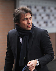 Chelsea manager Antonio Conte arriving before the match - Mandatory by-line: Jack Phillips/JMP - 12/02/2017 - FOOTBALL - Turf Moor - Burnley, England - Burnley v Chelsea - Premier League