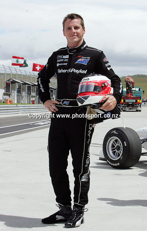 A1 Team New Zealand's Jonny Reid at the A1 GP in Taupo, New Zealand, on Sunday 21 January 2007. Photo: Michael Bradley/PHOTOSPORT