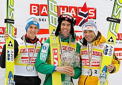 18.03.2012, Planica, Kranjska Gora, SLO, FIS Ski Sprung Weltcup,  im Bild Siegerehrung Gesamtweltcup Gregor Schlierenzauer (AUT), Anders Bardal (NOR) und Andreas Kofler (AUT),   during the FIS Skijumping Worldcup, at Planica, Kranjska Gora, Slovenia on 2012/03/18. EXPA © 2012, PhotoCredit: EXPA/ Oskar Hoeher.