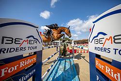 FOUTRIER Guillaume (FRA), TCHIN DE LA TOUR<br /> Münster - Turnier der Sieger 2019<br /> MARKTKAUF - CUP<br /> BEMER-Riders Tour - Qualifier for the rating competition (comp no 11)  - Stechen<br /> CSI4* - Int. Jumping competition with jump-off (1.50 m) - Large Tour<br /> 03. August 2019<br /> © www.sportfotos-lafrentz.de/Stefan Lafrentz