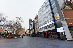 © Licensed to London News Pictures. 25/12/2016. Leicester Square on Christmas Day. Christmas Day morning saw the West End of London's streets almost completely emptied of people. Credit : Rob Powell/LNP