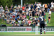 The crowd appreciate Ross Taylor of the Black Caps becoming the Highest ODI run scorer for the Black Caps, during the ANZ One Day International match between the Black Caps and Bangladesh, played at the University Oval, Dunedin, New Zealand, on February 20, 2019. Copyright Image: Joe Allison / www.Photosport.nz