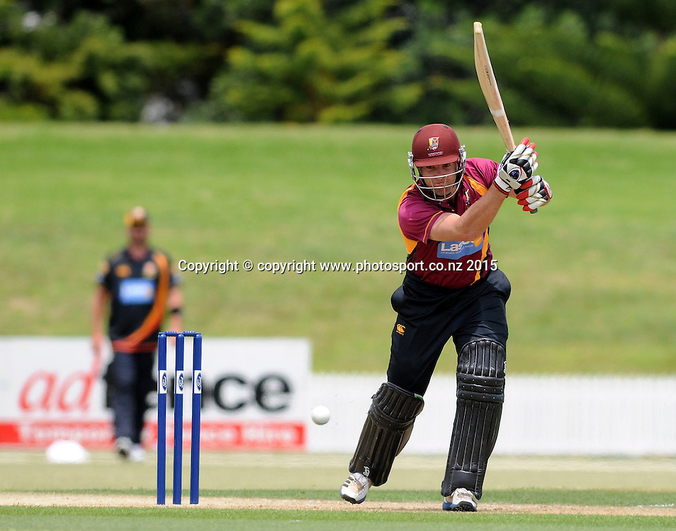 Northern Knight's Brad Wilson in action in the Ford Trophy One Day cricket match, Knights v Firebirds, Bay Oval, Mt Maunganui, Thursday, January 01, 2015. Photo: Kerry Marshall / photosport.co.nz