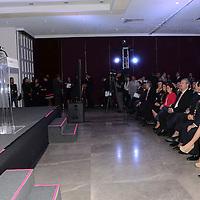 Toluca, Méx.- Jorge Olvera García, rector de la UAEM durante la inauguración de la sexta edición de ProMéxico Global, encuentro que busca impulsar los negocios y promover el comercio exterior. Agencia MVT / José Hernández