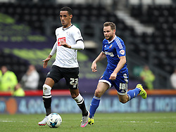 Thomas Ince of Derby County goes past Alan Judge of Brentford - Mandatory byline: Robbie Stephenson/JMP - 07966 386802 - 03/10/2015 - FOOTBALL - iPro Stadium - Derby, England - Derby County v Brentford - Sky Bet Championship