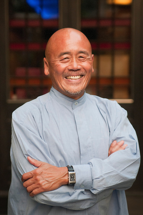 World famous chef, Ken Hom, at his restaurant Maison Chin in Bangkok, Thailand.