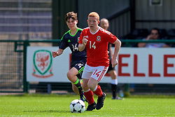 NEWPORT, WALES - Wednesday, July 25, 2018: Rhydian Williams and Aaron Bennett during the Welsh Football Trust Cymru Cup 2018 at Dragon Park. (Pic by Paul Greenwood/Propaganda)