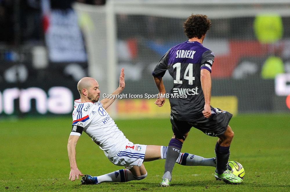 Christophe JALLET - 11.01.2015 - Lyon / Toulouse - 20eme journee de Ligue 1<br /> Photo : Jean Paul Thomas / Icon Sport