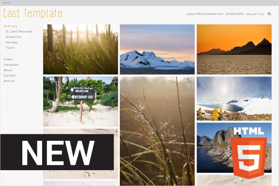 Beam PhotoShelter - Photoshelter templates